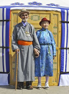 Elderly Couple from Mongolia