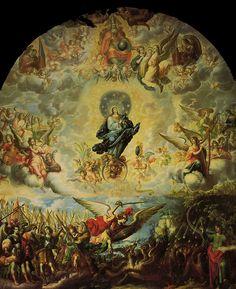 Cristóal de Villalpando, La Virgen del Apocalipsis, Óleo sobre tela, pintura monumental, Sacristía de la Catedral de la Ciudad de México by Tach Jrez. Hra., via Flickr