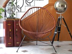 Leather Acapulco chair. Delight