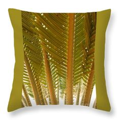 Throw Pillow featuring the photograph Palm Leaves 01 by Dora Hathazi Mendes #homedecor #throwpillow #dorahathazi #palm
