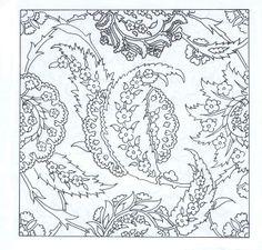 ESKİ TÜRK MOTİFLERİ - e1y3 - Blogcu.com Stencil Patterns, Painting Patterns, Textile Patterns, Curtain Patterns, Pattern Drawing, Pattern Art, Pattern Design, Turkish Pattern, Persian Motifs