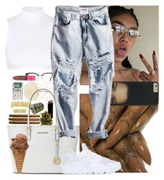 """""""Spring outfit #2"""" by msixo ❤ liked on Polyvore featuring GlassesUSA, ASOS, GAS Jeans, River Island, Beth Richards, Michael Kors and NIKE"""