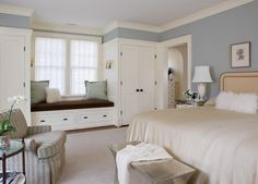 Anne Decker Architects | Selected Works | Homes | Shingle Style House: Love the closets and window seat!