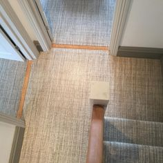 Riviera Home Milano supplied and installed by Bucklands Carpet & Rug Studio Ltd Home Carpet, Rugs On Carpet, Carpets, Rug Studio, Tile Floor, Stairs, Landing, Wood, Beautiful