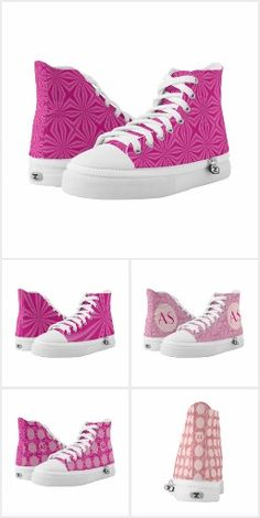 1 Pink High Tops from Auntie Shoe. Cool pink Sneakers!