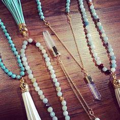 Virtue Ivory Crystal Prism Necklace
