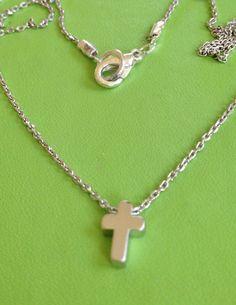 Silver Cross Necklace by joytoyou41 on Etsy, $16.00