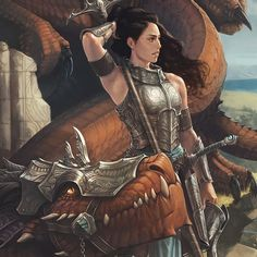 Girl and Her Dragon 1 - Dragonrider by Adam Schumpert on ArtStation.