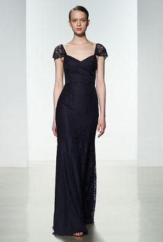 Style G964L, lace gown with cap sleeves, price upon request, Amsale