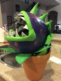 Paper mache chomper plants vs zombies.