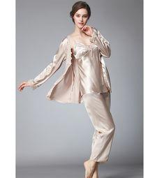 Wholesale 3 Pcs Set Silk Home Clothes For Women pajamas lingerie