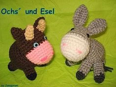 Amigurumi Bull and Donkey
