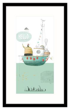 Hello Framed at Whistlefish Galleries - handpicked contemporary & traditional art that is high quality & affordable. Available online & in store