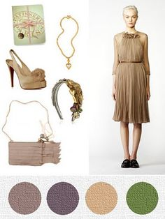 Wedding Colors for a Fall Wedding. rofl at everything but the color pallet.