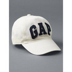 Gap Women Logo Baseball Hat ($20) ❤ liked on Polyvore featuring accessories, hats, regular, snow cap, logo hats, caps hats, embroidered ball caps, logo baseball caps and brimmed hat