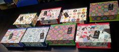 Las ideas de Yoli: Talleres de cartonnage, cajas de té.