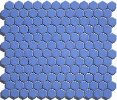 Porcelain Hexagon Tile, Hexagon Mosaic Tile, Hex Tile, White Traditional Bathrooms, Mosaic Tile Supplies, Blue Tiles, Tile Design, Backsplash Ideas, Tile Ideas