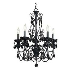 teen bedroom decor black chandelier | Decorating a Kids Room Using Black Chandelier Bedding & Chandelier ...