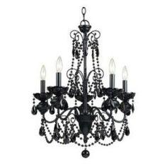 teen bedroom decor black chandelier | Decorating a Kids Room Using Black Chandelier Bedding & Chandelier ...