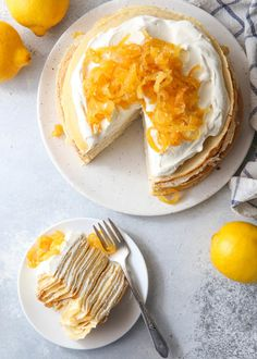 Best Lemon Curd / Lemon Mascarpone Crepe Cake