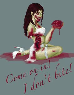 ' Zombie Art, Zombie Apocalypse, Zombies, The Walking Dead, Pin Up, Horror, Illustration, Artwork, Movie Posters