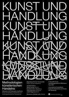 """elias-hanzer:  """"Kunst und Handlung"""" //// Poster Design for a..."""