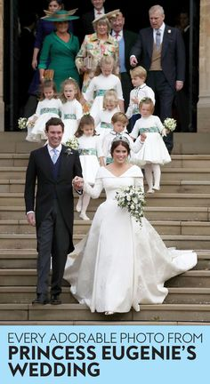 See every photo from #PrincessEugenie and #JackBrooksbank's #RoyalWedding.  #weddings #royals #royalwedding #katemiddleton #meghanmarkle #princesscharlotte #weddinginspiration #celebrityweddings