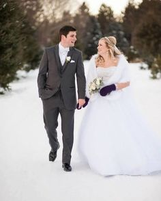 Walking in a Winter Wonderland . Real Bride: Lisa in her stunning wedding dress by Jasmine Bridal (Style F151010)