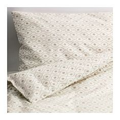 IKEA - HJÄRTEVÄN, Crib duvet cover/pillowcase, , Cotton is soft and feels nice against your child's skin.The color and pattern of the duvet cover are easy to combine with other textiles.