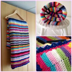 The story of the multicolored striped blanket .....