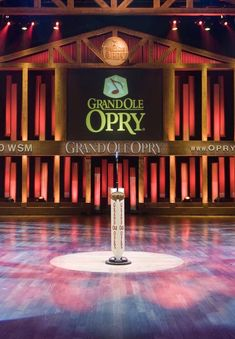 The Grand Ole Opry building in Nashville. The circle of boards that the microphone is sitting on comes from the Ryman Auditorium.original home of the Grand Ole Opry. Nashville Tv Show, Visit Nashville, Nashville Trip, Nashville Tennessee, Nashville Grand Ole Opry, Tennessee Usa, Vacation Spots, Memphis, Country Music