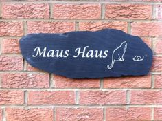 High-quality house signs available in a wide range of Stone and Styles. Stones include Slate, Sandstone, Yorkshire Stone and Marble. Entrance Ideas, House Entrance, Personalized Signs For Home, Sign Fonts, House Plaques, Slate Signs, House Names, House Signs, Rustic Stone