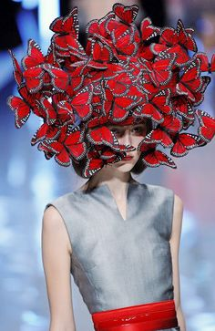 one of the best & most memorable...philip treacy for alexander mcqueen show 2008.