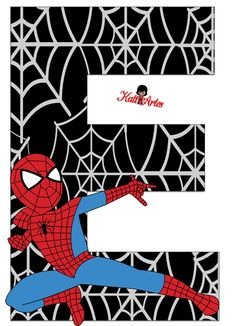 Alfabeto de Spiderman con Fondo Negro.   Oh my Alfabetos!