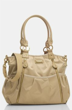 Love this champagne baby bag! Cute gift idea for Mother's Day.