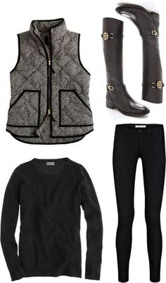 Ideal fall outfit for cold rainy days,confiscated black, you can not go wrong, if i could only find high boots that fit