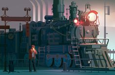 Train by Victor Fedotov | Illustration | 2D | CGSociety