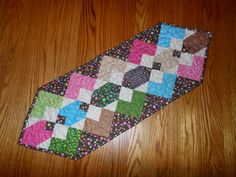 Hopscotch Quilted Table Runner by HoneyBunnyandDoll on Etsy, $25.00