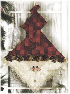 Red Rooster Quilts: Shop   Category: Christmas / Winter Patterns   Product: Nine Patch Santa Wall Hanging Pattern