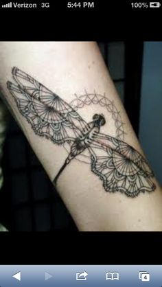 Dragonfly lace tattoo - I wonder if I can cover up my tramp stamp with this beautiful piece...