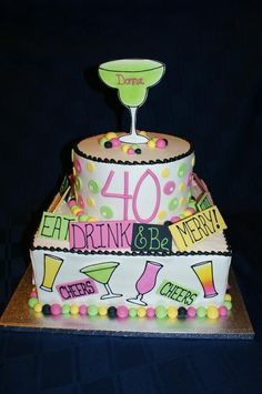 40th. Birthday Cake