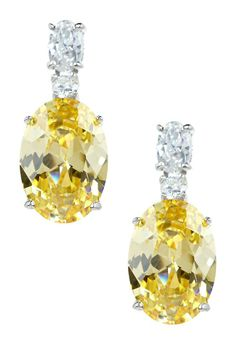 Gorgeous yellow earrings from Adam Marc