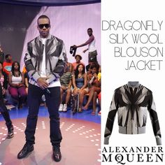 Male Fashion Trends: Mario y su Dragonfly Silk Wool Blouson Jacket de Alexander McQueen