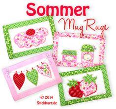 Sommer Mugrugs ITH - stickbaer - 9.00euro