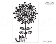 *Original illustration illustrated by Mojca Dolinar. We love cats and flowers.  *It is made of high quality, self-adhesive scretch resistance vinyl. It