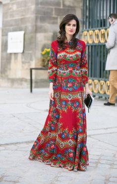 robe hippie chic super colorée