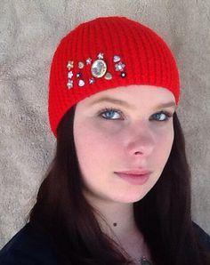 Hand knitted Girls / Ladies Beanie / Hat by HandmadebyAuntyTart on Etsy