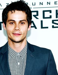 Dylan O'Brien at the NYC The Scorch Trials Premiere.