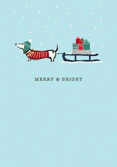 """Frohe u. Christmas Greeting Cards, Christmas Greetings, Dachshund Art, Daschund, Christmas Dog, Christmas Dachshund, Weenie Dogs, Doggies, Christmas Illustration"