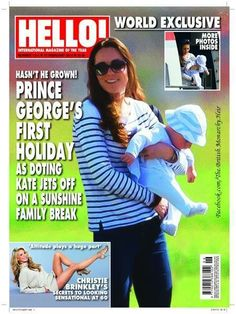 Prince George's first holiday